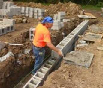 Commercial and residential concrete block foundations – Ohio Valley